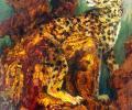 Анцімонаў Л. Леапард, 1991—1993, змешаная тэхніка, манатыпія, папера, 88х65 см
