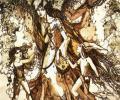 Беразоўская Т. Асенні дождж у краіне троляў, 1997, змяшаная тэхніка