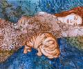 Беразоўская Т. Рыжая кошка – рыжы кот, папера, змяшаная тэхніка