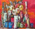 Khesin B. Two Cups, 2011, canvas, oils, 80x60 cm
