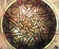 Khomich-Mirzoyan L. Coat of Arms, 2005, copper, brass, diameter 60 cm