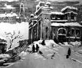 Klikushin G. Ruins, 1961, linocut