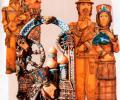 Ковальчук В., Ковальчук Л. Ярмарка, 2007, комплект скульптурных работ : терракота, глазури, подглазурная роспись