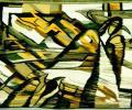 Козік Т. Адчуць на сваіх крылах залатую цеплыню, 1998, габелен, воўна, гладкае ткацтва, 115х173 см