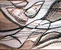 Kozik T. Silent Boulders in white Space, 1992, tapestry, wool, linen, 80х100 cm