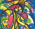 Люцко А. Импровизация, 2009, бумага, смешанная техника, 86х120 см