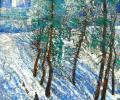 Шапо У. Артылерыйская горка, 2010, акрыл, ляўкас, кардон, 50х60 см