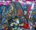 Шапо У. Полацк. Дом дзеда Сямёна, 2015, акрыл, палатно на фанеры, 57х75 см