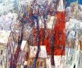 Шапо У. Полацк. Кірха, 2011, акрыл, ляўкас, кардон, 45х45 см