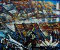 Шапо У. Полацк. Млын на Палаце, 2015, акрыл, палатно на фанеры, 57х75 см