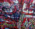 Шапо У. Полацк. Чырвоны мост, 2015, акрыл, палатно на фанеры, 57х75 см