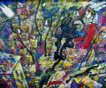 Шапо У. Полацк. Стралецкая вуліца, 2015, акрыл, палатно на фанеры, 57х75 см