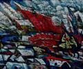 Шапо У. Полацк. Вуліца Замкавая, 2015, акрыл, палатно на фанеры, 57х75 см