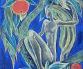 Воронова Л. Ева, 1993, картон, пастель, 49х60 см