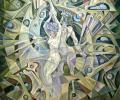 Зуеў Ю. Кентаўр і муза, 1994, правая частка трыпціха, 100х100 см